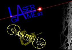 AFFICHE PAINTBALL + LASER GAME